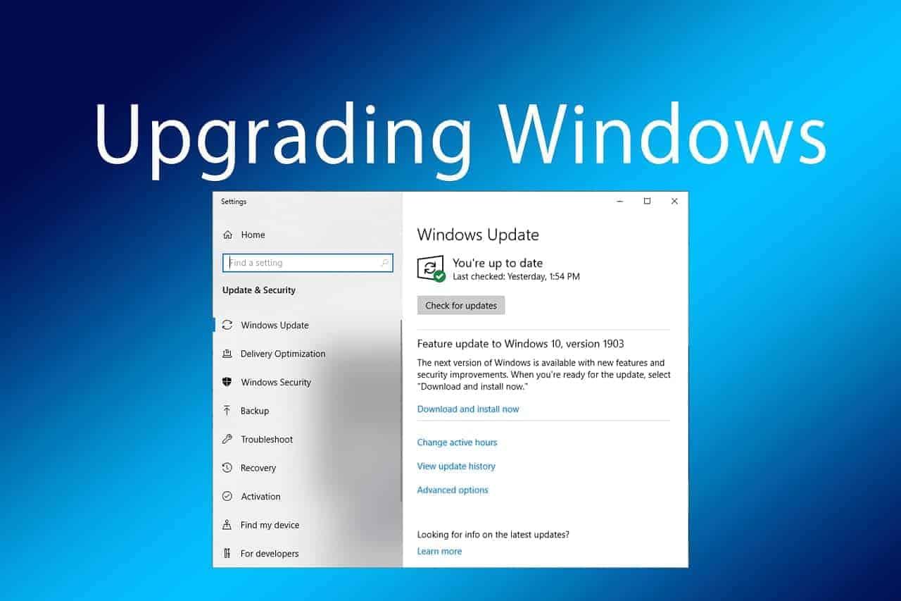 windows 10 update 1903